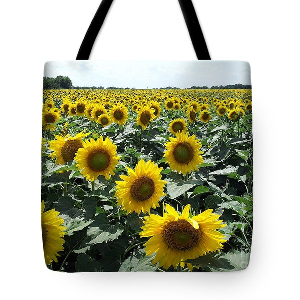Sunflowers Tote Bag by Cheryl McClure