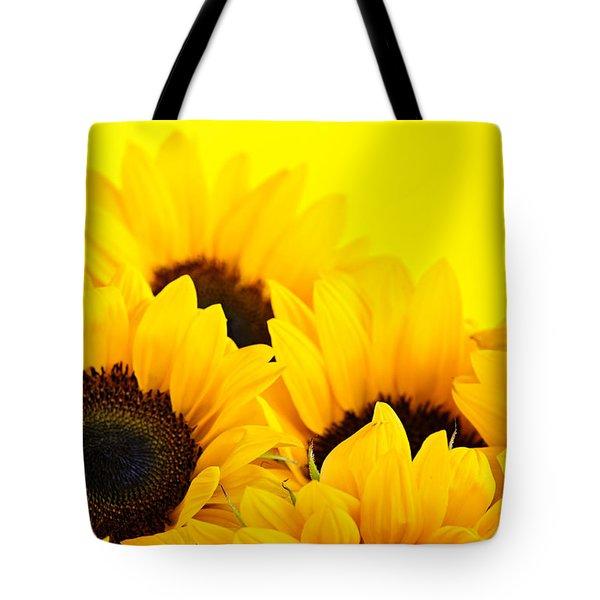 Sunflowers Tote Bag by Elena Elisseeva