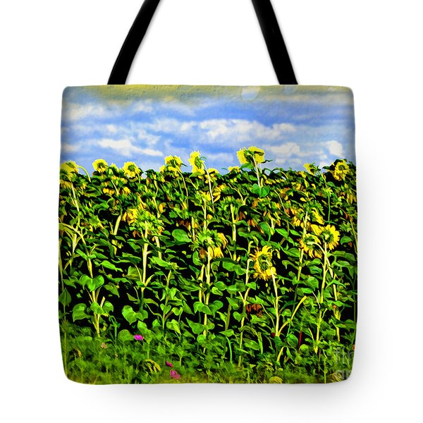 Sunflowers In France Tote Bag by Joan  Minchak