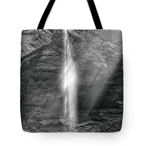Tote Bag featuring the photograph Sunlight Falls by Mary Almond