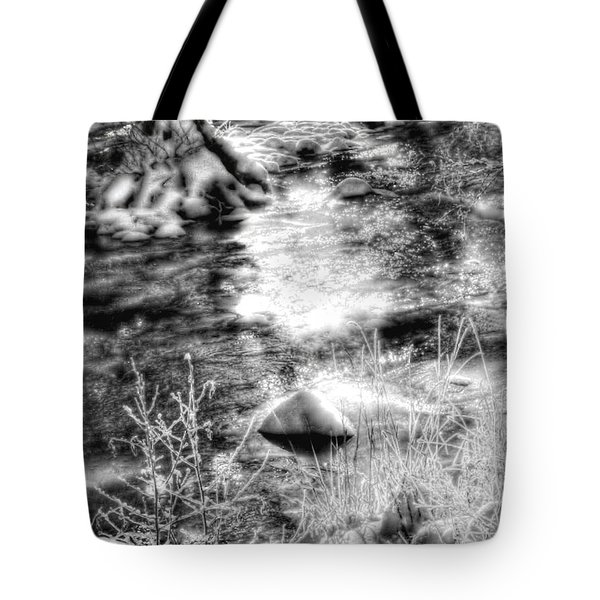 Sunlight In The Springtime Mountains Tote Bag
