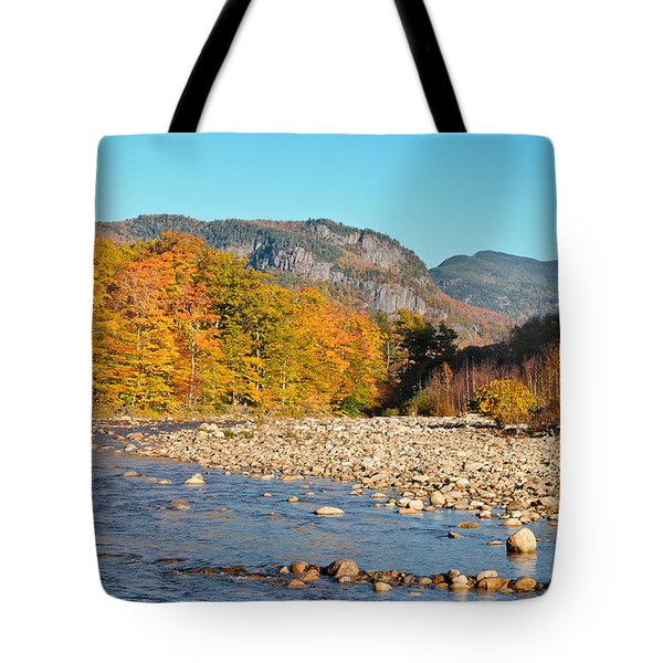 Sunlight On The Saco Tote Bag by Geoffrey Bolte