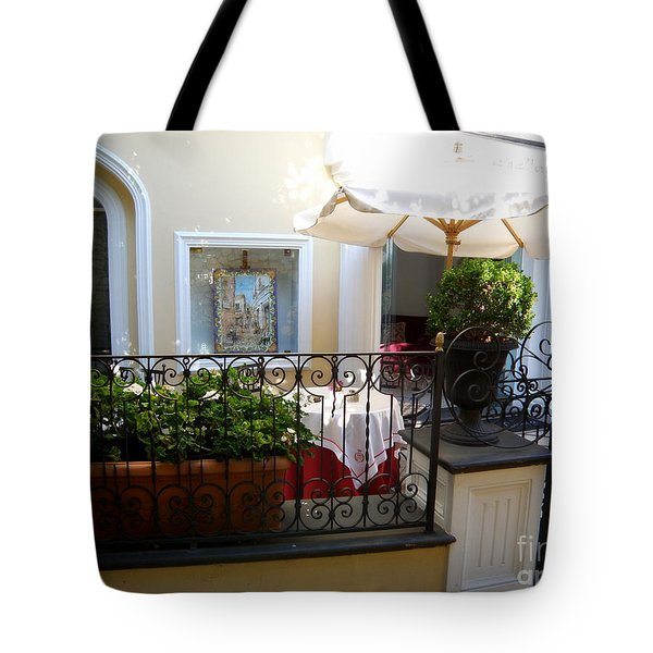 Sunny Day In Capri Tote Bag by Tanya  Searcy