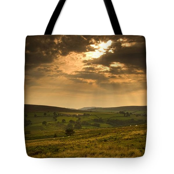 Sunrays Through Clouds, North Tote Bag by John Short