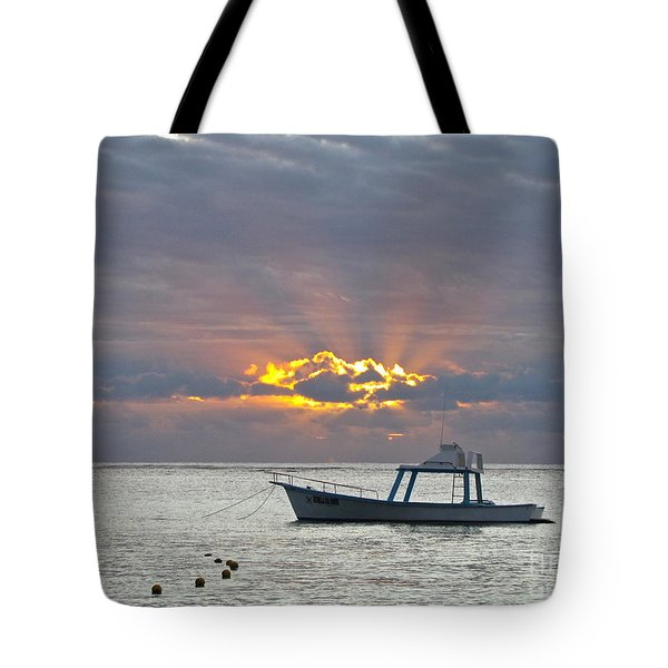 Sunrise - Puerto Morelos Tote Bag by Sean Griffin