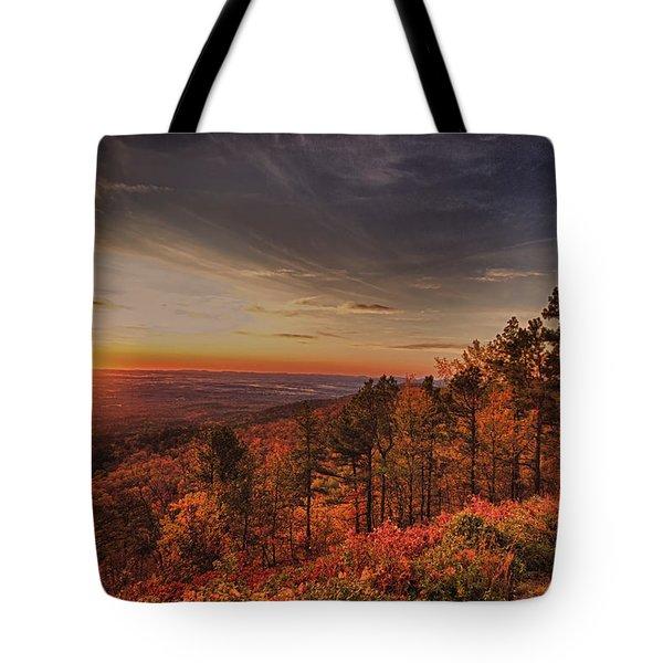 Sunrise 2-talimena Scenic Drive Arkansas Tote Bag by Douglas Barnard