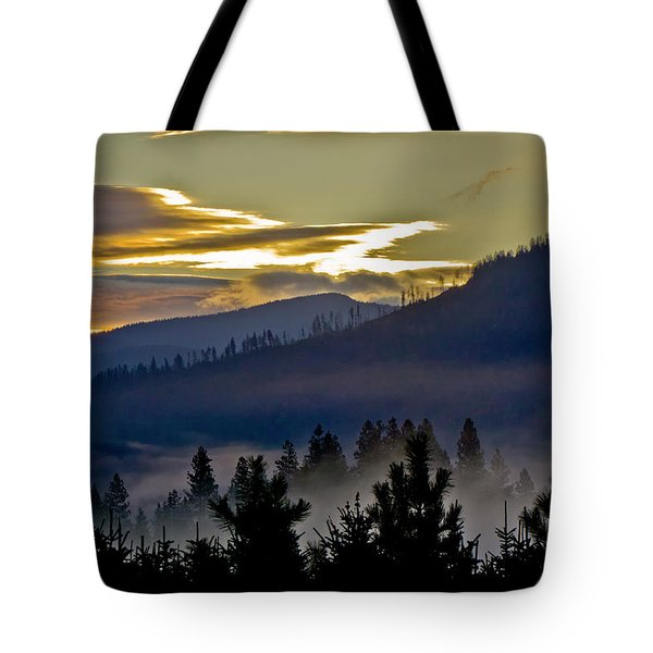 Sunrise And Valley Fog Tote Bag by Albert Seger