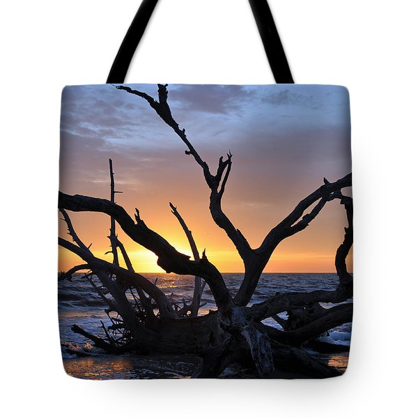 Sunrise At Driftwood Beach 5.2 Tote Bag