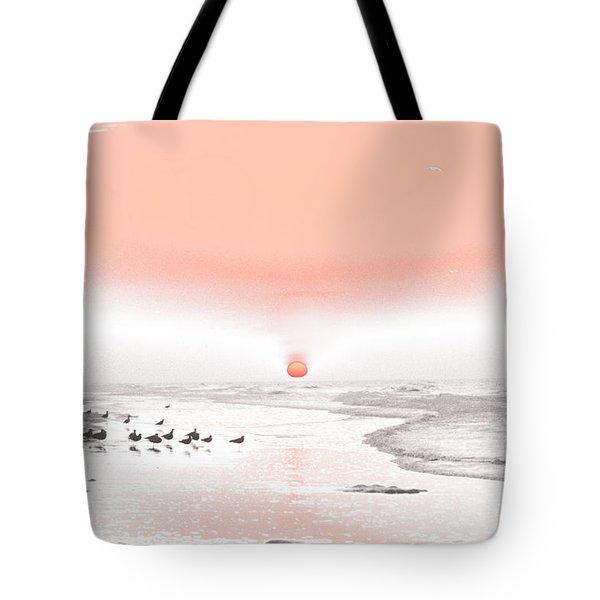 Pastel Sunrise Beach Tote Bag