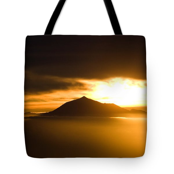 sunrise behind Mount Teide Tote Bag by Ralf Kaiser