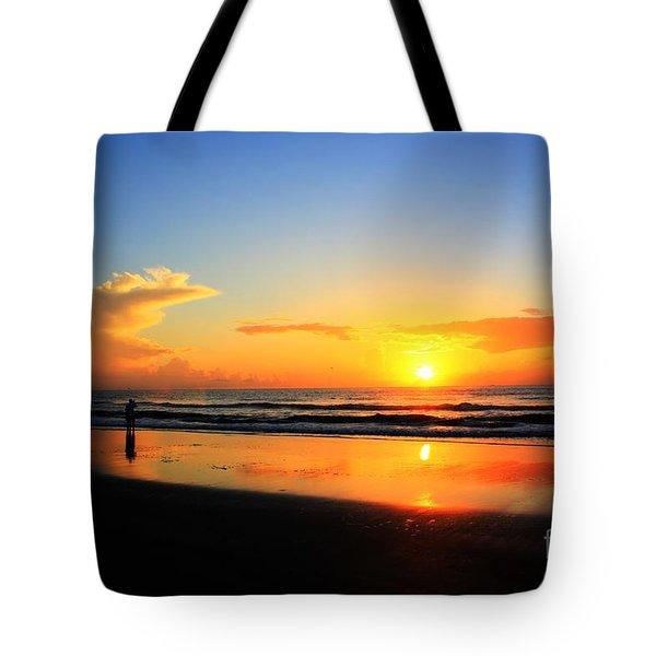 Sunrise Couple Tote Bag by Dan Stone