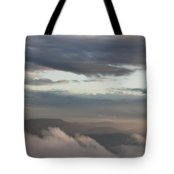 Sunrise In The Mountains Tote Bag by Jeannette Hunt