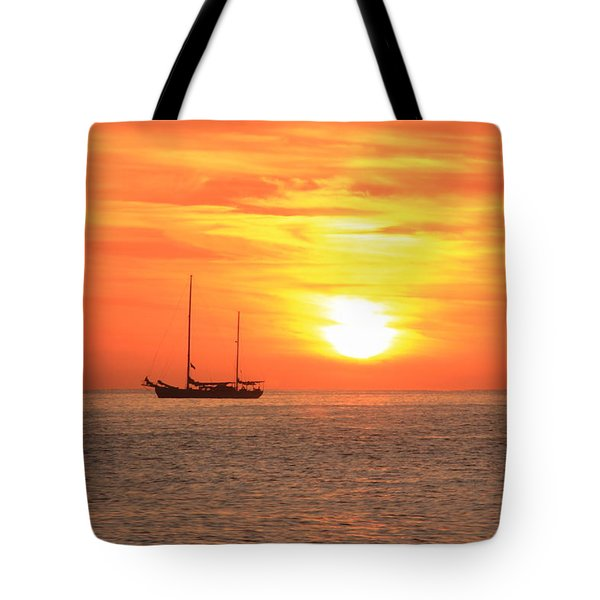 Sunrise On The Sea Of Cortez Tote Bag by Roupen  Baker