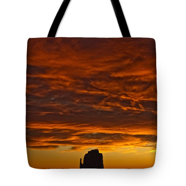 Sunrise Over Monument Valley, Arizona Tote Bag by Robert Postma
