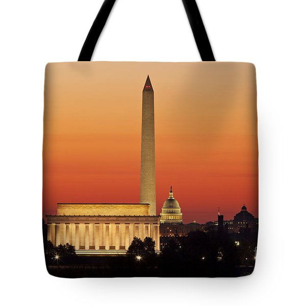 Sunrise Over Washington Dc Tote Bag