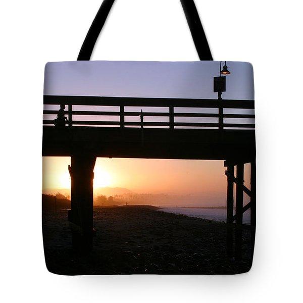 Sunrise Pier Ventura Tote Bag