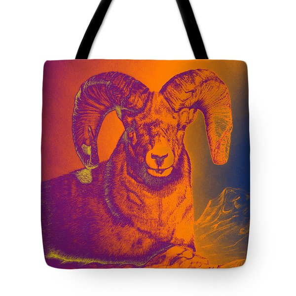 Sunrise Ram Tote Bag by Mayhem Mediums