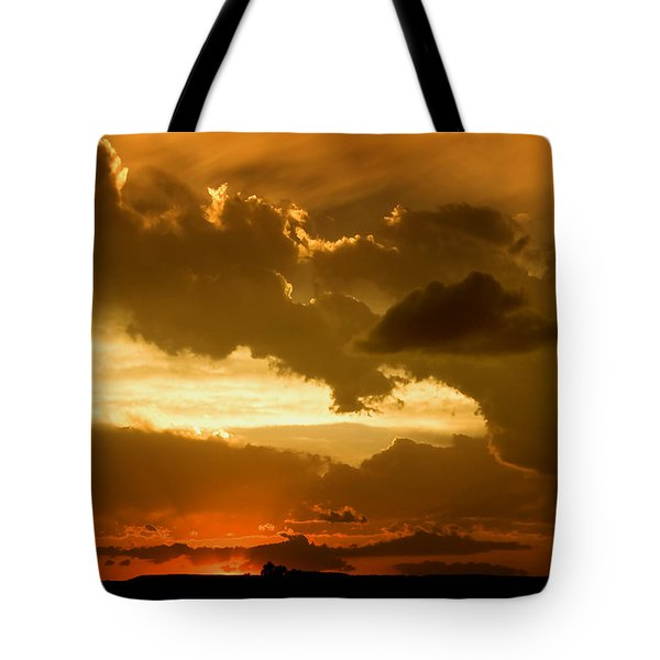 Sunset After The Storm Tote Bag by Ellen Heaverlo