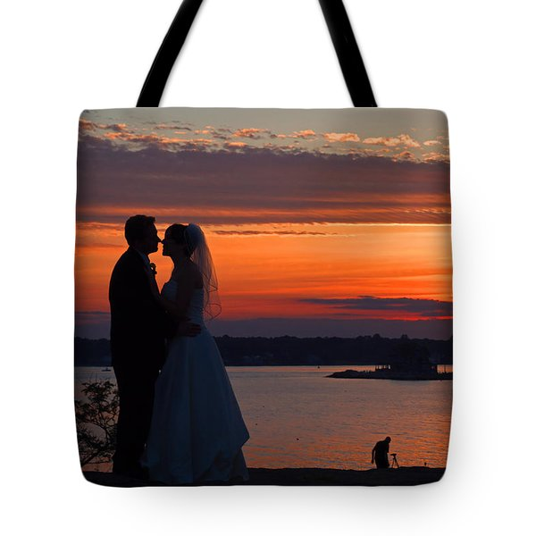 Sunset At Night A Wedding Delight Tote Bag
