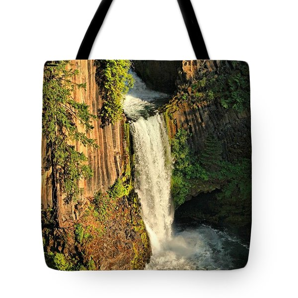 Sunset At Toketee Falls Tote Bag by Winston Rockwell