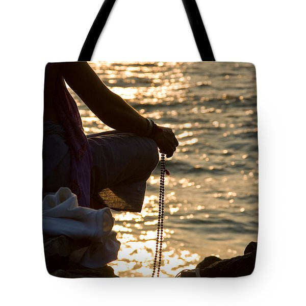 Tote Bag featuring the photograph Sunset Chanting Of The Name Of God by Sonny Marcyan
