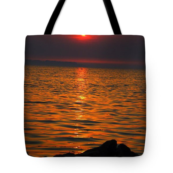 Tote Bag featuring the photograph Sunset by Colette V Hera  Guggenheim