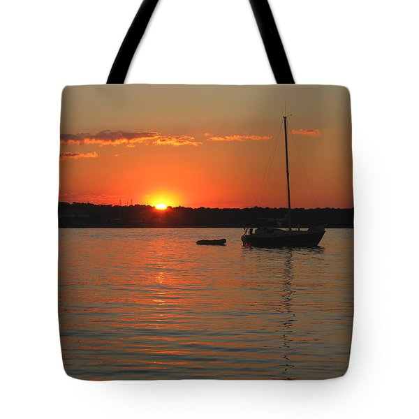 Tote Bag featuring the photograph Sunset Cove by Clara Sue Beym
