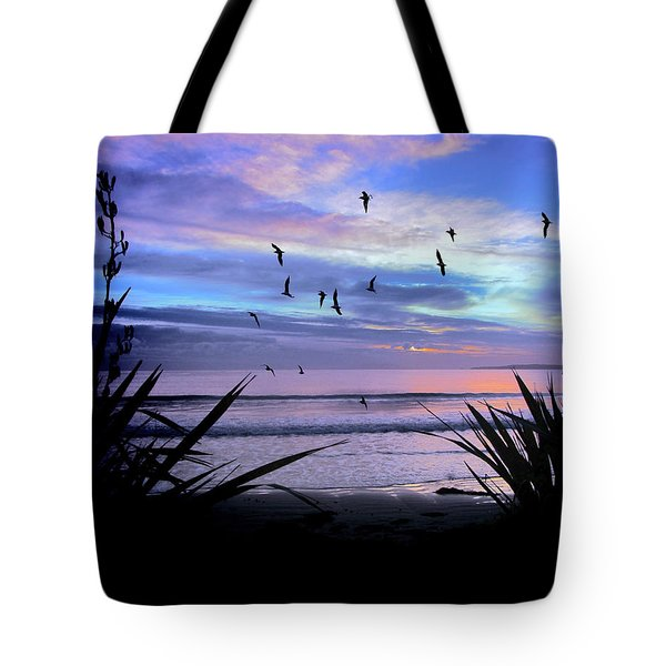 Sunset Down Under Tote Bag by Karen Lewis