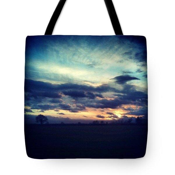 Sunset Drama Tote Bag