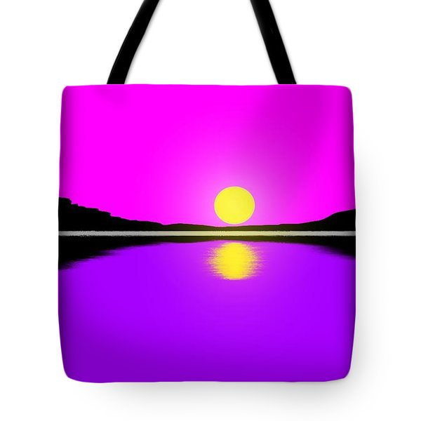 Sunset Tote Bag by George Pedro