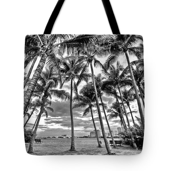 Sunset Grove At Palm Beach Tote Bag