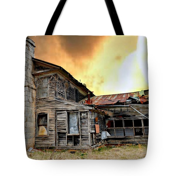 Sunset Homestead Tote Bag by Marty Koch