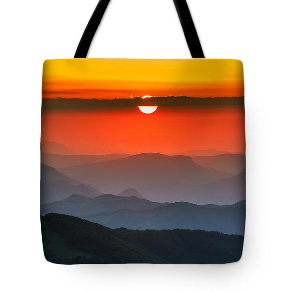Sunset In Balkans Tote Bag