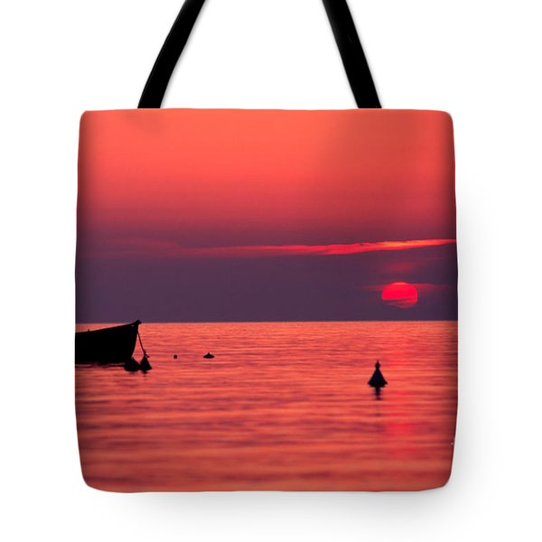 Tote Bag featuring the photograph Sunset In Elba Island by Luciano Mortula