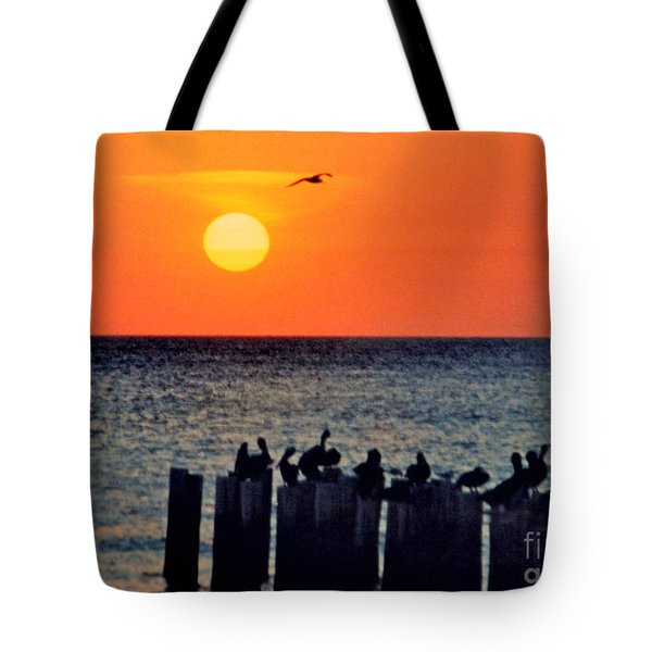 Tote Bag featuring the photograph Sunset In Florida by Lydia Holly