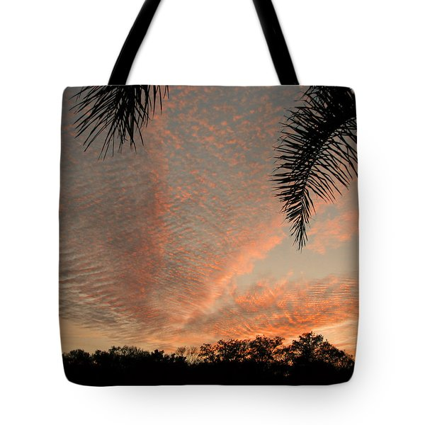 Sunset In Lace Tote Bag