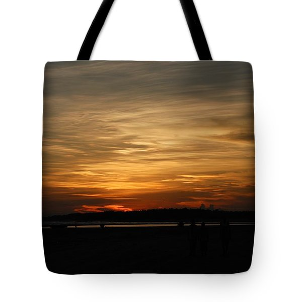 Tote Bag featuring the photograph Sunset In Pastels by Fotosas Photography