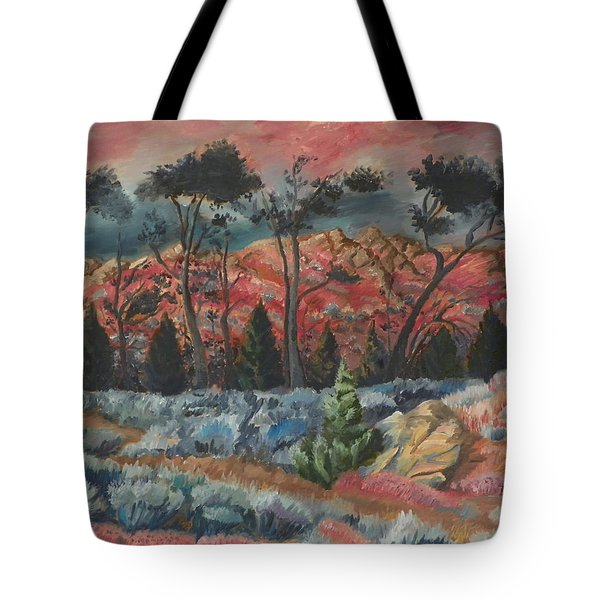 Sunset In The Cheatgrass Tote Bag by Dawn Senior-Trask