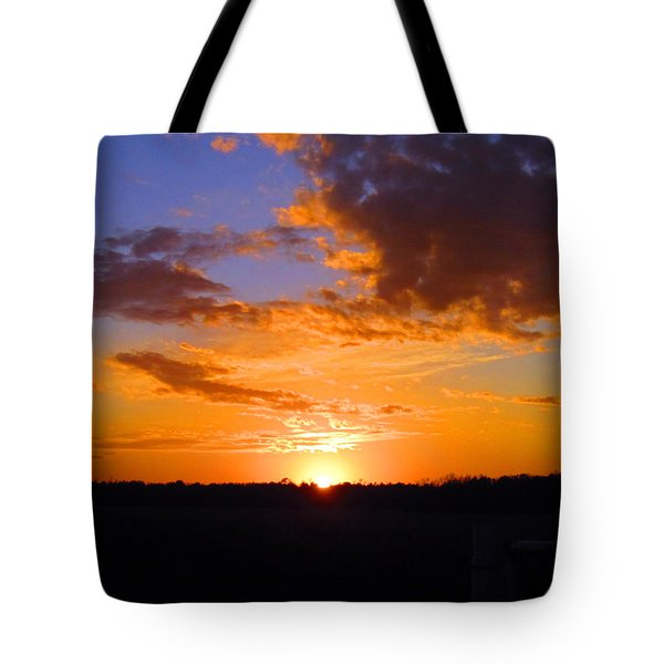 Sunset In Wayne County Tote Bag