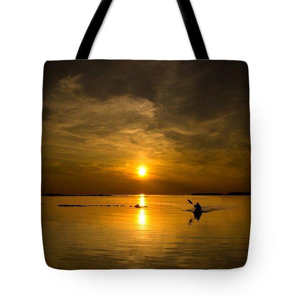 Sunset Kayak Tote Bag