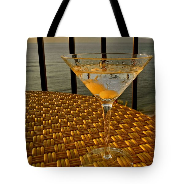 Sunset Martini In Maui I Tote Bag by Kirsten Giving