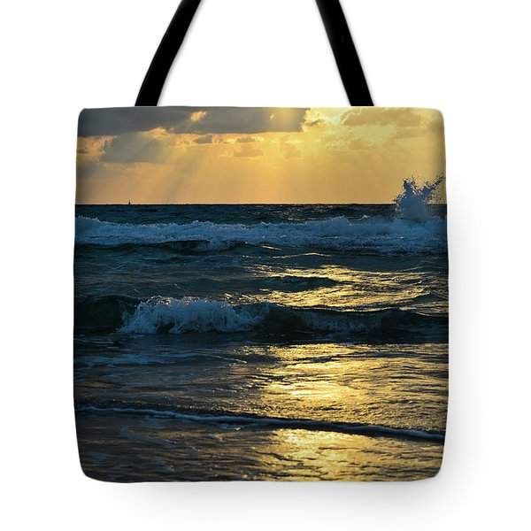 Tote Bag featuring the photograph Sunset by Michael Goyberg