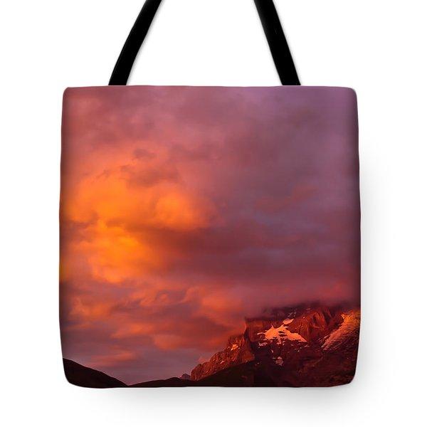 Sunset Murren Switzerland Tote Bag