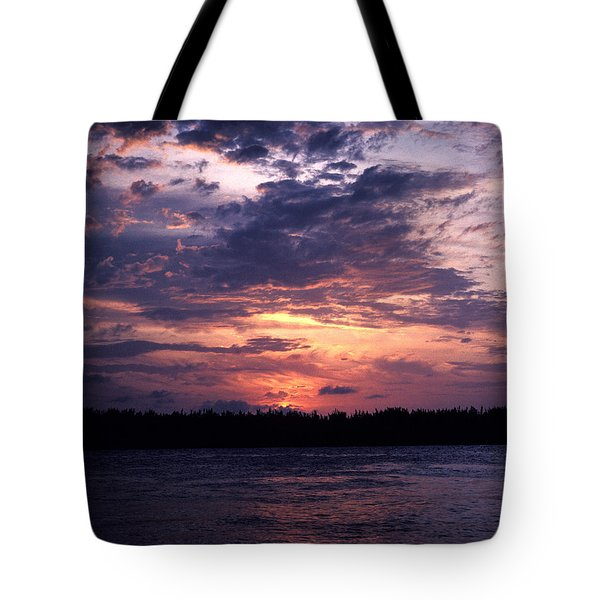 Tote Bag featuring the photograph Sunset Off Mallory Square 14s by Gerry Gantt