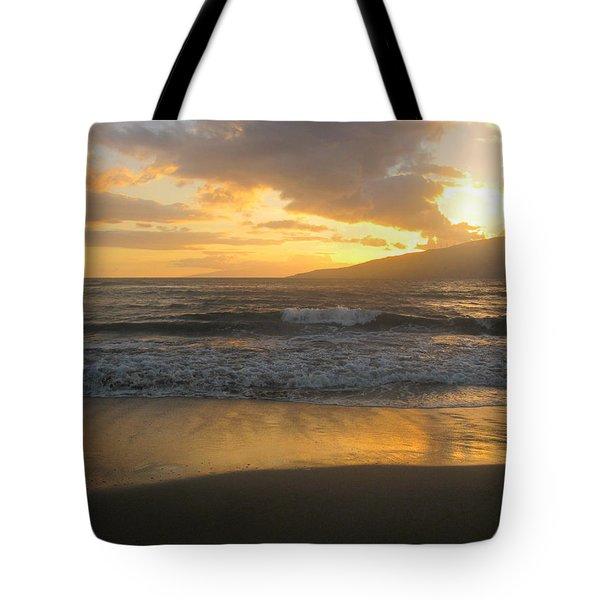 Sunset On Maui Tote Bag
