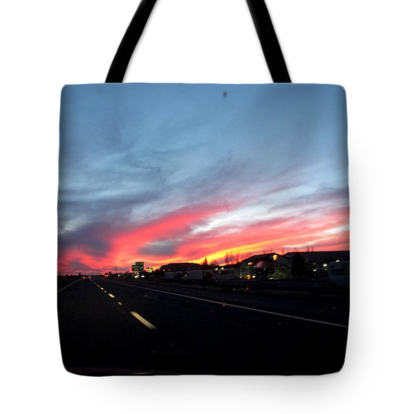 Sunset On Route 66 Tote Bag