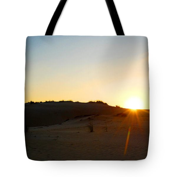 Sunset On The Dunes Tote Bag