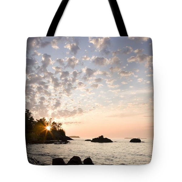 Sunset On The South Shores Of Lake Tote Bag by Susan Dykstra