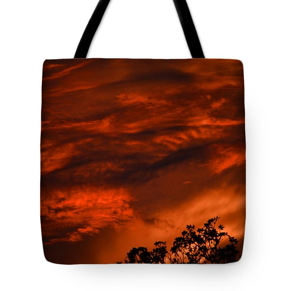 Tote Bag featuring the photograph Sunset Over Altoona by DigiArt Diaries by Vicky B Fuller