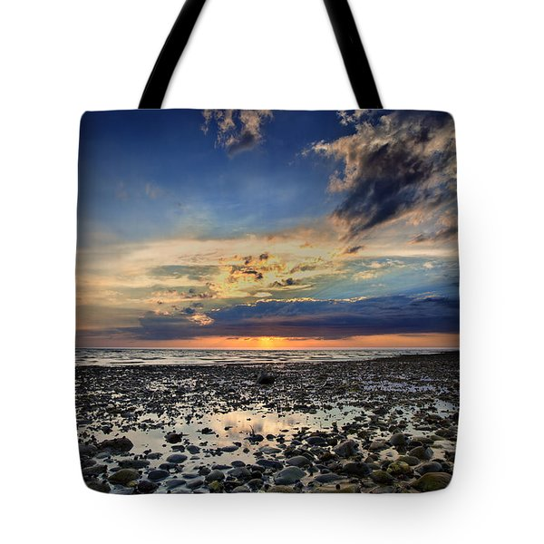 Sunset Over Bound Brook Island Tote Bag by Rick Berk